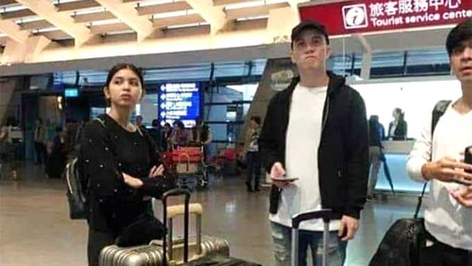 Maine Mendoza, Arjo Atayde spotted at Taiwan airport