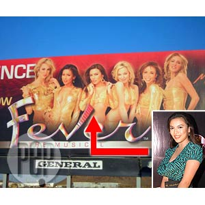 Ciara Sotto's billboard for Las Vegas show now up