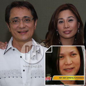 Wife Alicia Arroyo and partner Grace Ibuna both grieving over Congressman Iggy Arroyo's death