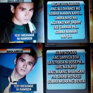 Ramgen Revilla's text messages the night before his murder affirm row with siblings over money