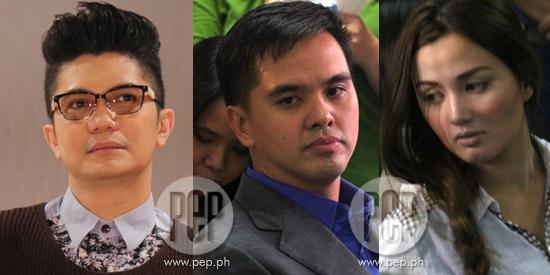 Vhong, Cedric, Deniece face-off in Taguig court