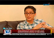 Ryan Agoncillo recovers from dengue and pneumonia
