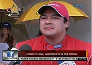 Jomari Yllana encounters minor car accident while racing