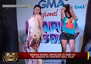 Marian Rivera overwhelmed by turnout of fans in Roxas City mall show