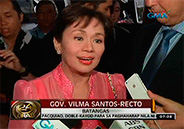 "Vilma Santos attends gala night of her indie film ""Ekstra/ The B"