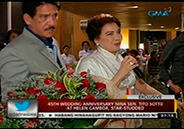 Sen. Tito Sotto and actress Helen Gamboa's star-studded 45th wedding a