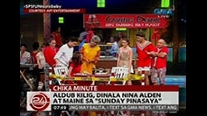AlDub in <em>Vampire Ang Daddy Ko</em> at <em>KMJS&a