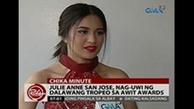 Julie Ann brings home two trophies from Awit Awards