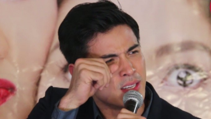 Xian Lim cries at presscon