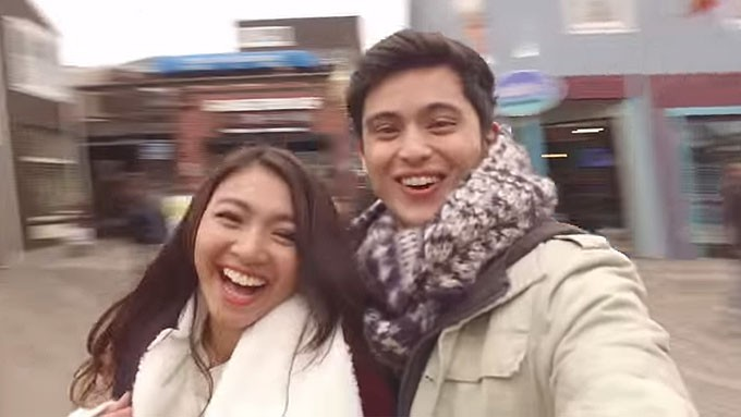 Nadine shares kilig moments with James in US