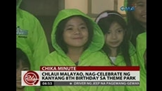 Chlaui Malayao celebrates 8th birthday