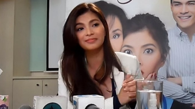 How does Angel Locsin deal with problems?