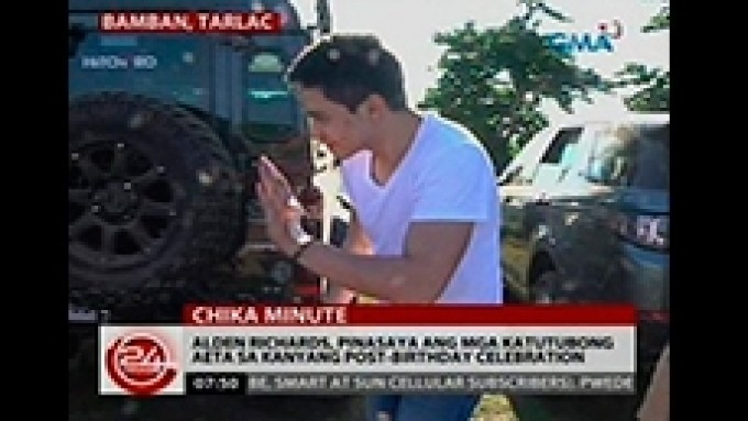 Alden Richards post-birthday celebration with Aetas
