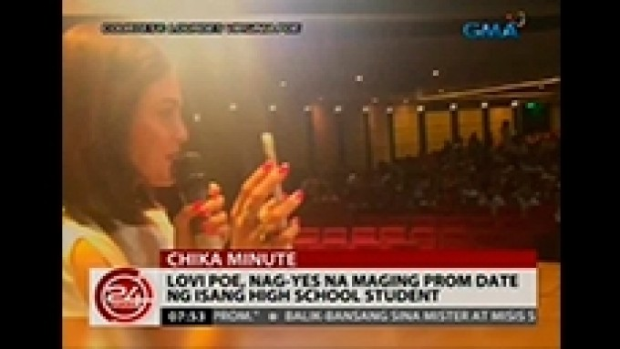 Lovi Poe says yes to promposal