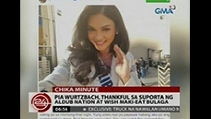 Pia Wurtzbach thanks AlDub Nation for the support