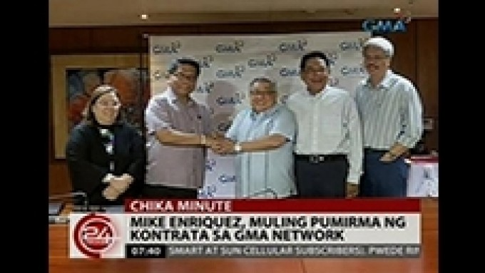 Mike Enriquez signs with GMA Network again