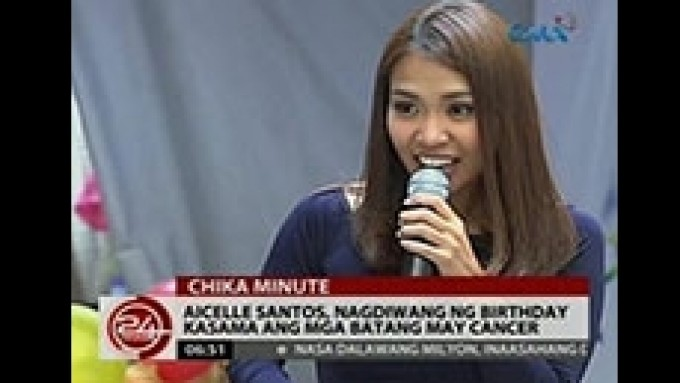 Aicelle Santos celebrates birthday with kids with cancer