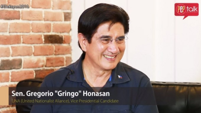 Sen. Gringo Honasan on why he should be your Vice President