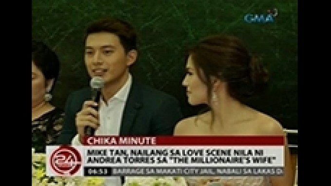 Mike Tan admits uncomfortable feeling in love scene
