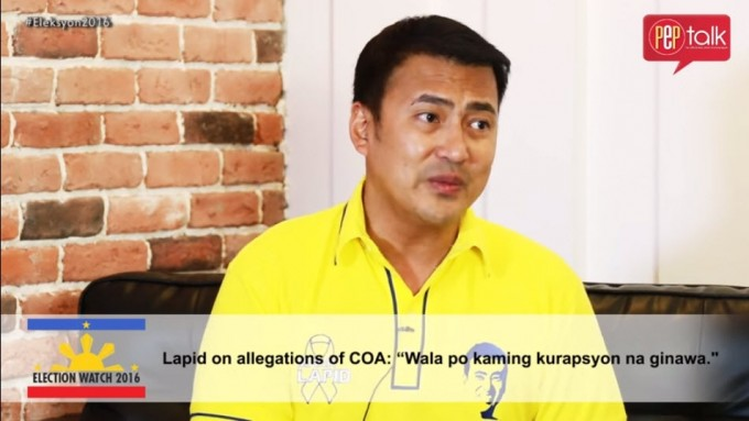 Mark Lapid answers COA allegations