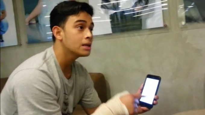 Diego Loyzaga shows posts by suspected attacker