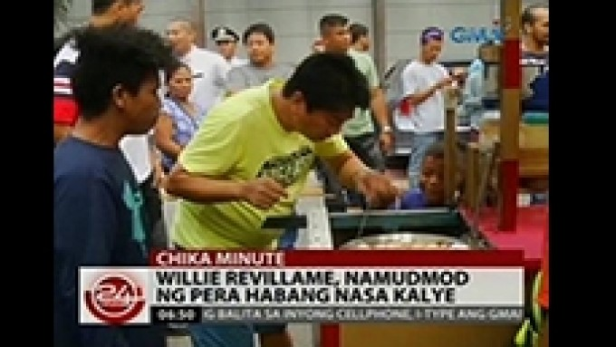 Willie Revillame gives away money to vendors, street kids