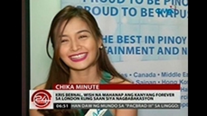 Kris Bernal wishes to find her 'forever' in England