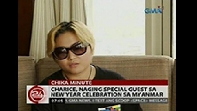 Charice sings in Myanmar's New Year celebration