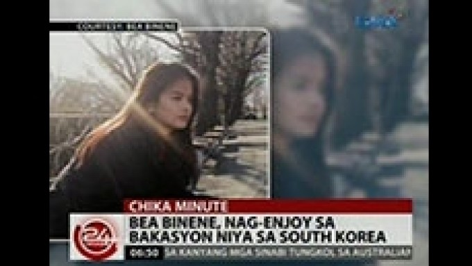 Bea Binene enjoys South Korean vacation
