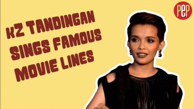 KZ Tandingan sings famous movie lines