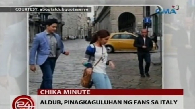 Maine Mendoza and Alden Richards start filming in Italy