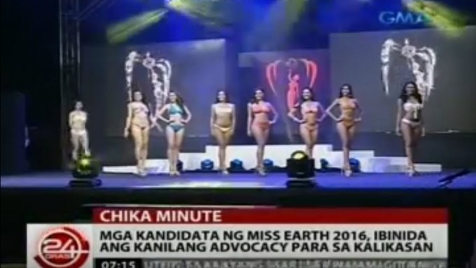 Miss Philippines-Earth 2016 candidates in swimsuit