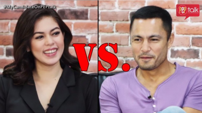 "Derek Ramsay and Shaina Magdayao play 'Bag of Lies""'"