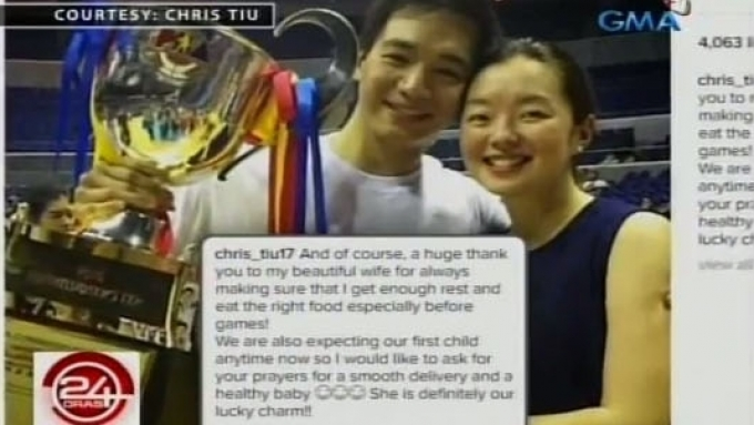 Chris Tiu to become a dad anytime now