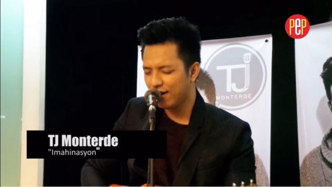 TJ Monterde sings his latest single 'Imahinasyon'