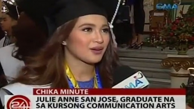 Julie Anne San Jose's next goal: master's degree
