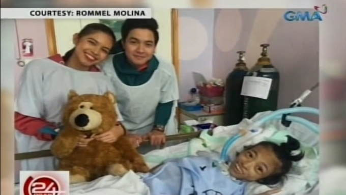 Aldub fulfills promise of a father to a sick child