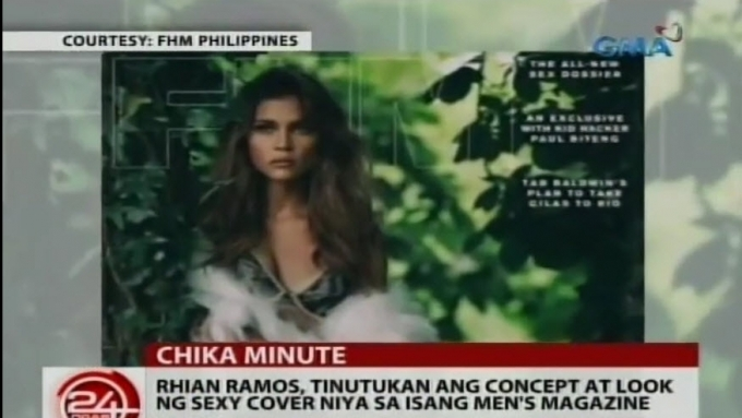 Rhian Ramos gets advice from Solenn Heussaff for FHM shoot