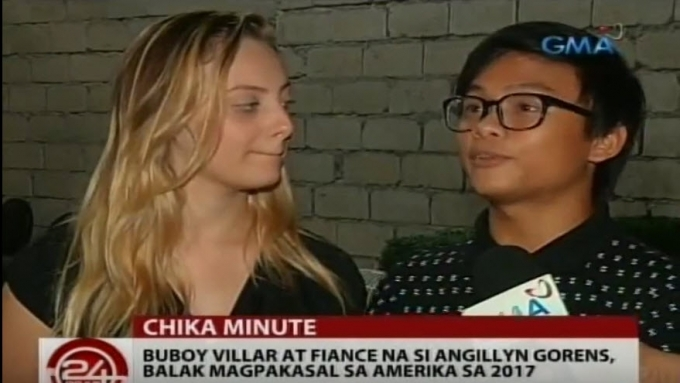 Buboy Villar plans to marry fiancée next year in the US