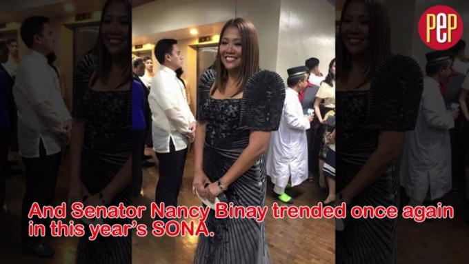 So, Senator Nancy Binay trended again...