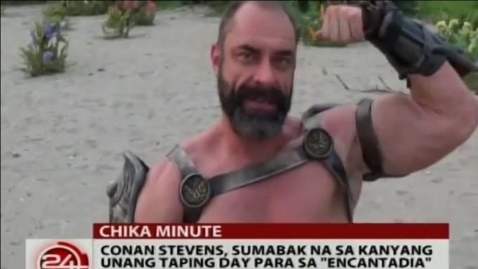 Conan Stevens starts taping for Encantadia
