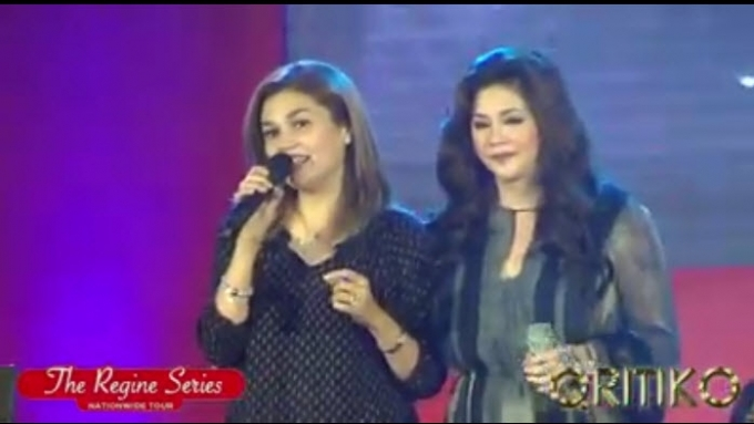Regine and Donna reunite onstage and perform 'I Can'