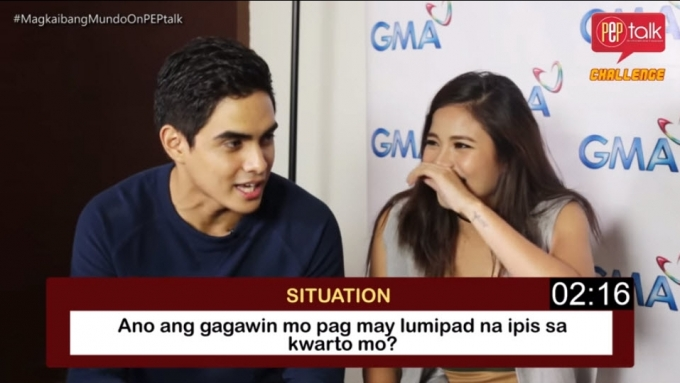 Louise delos Reyes and Juancho Trivino play 3's in 5