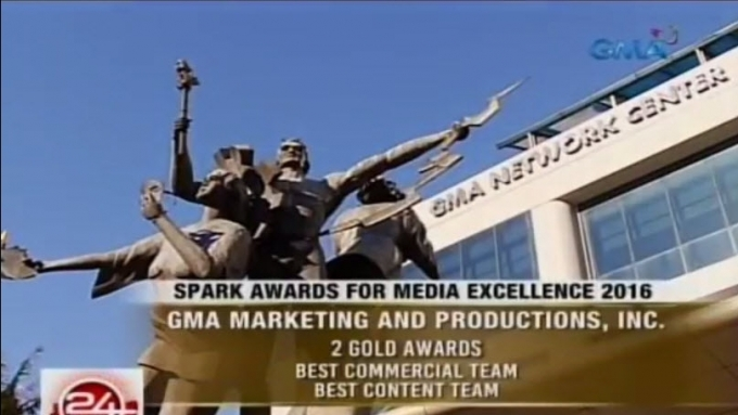 GMA-7 wins two gold awards in Singapore