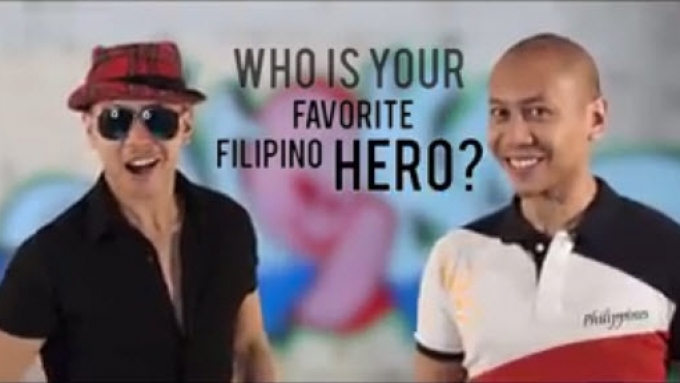 Mikey Bustos asks, 'Who is your favorite Filipino hero?'
