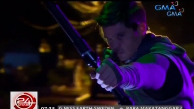 Dingdong Dantes does own stunts for Alyas Robin Hood