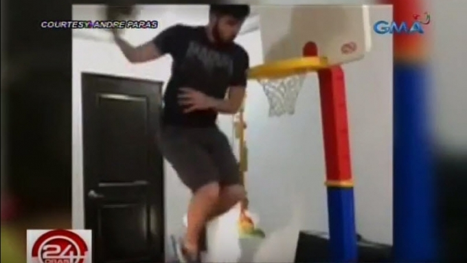 Andre Paras 'challenges' brother Kobe to a dunk showdown