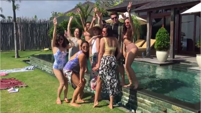 Isabelle Daza's bachelorette party in Bali