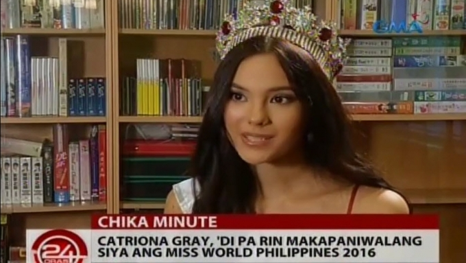 Catriona Gray can't believe she's Miss World Phils. 2016