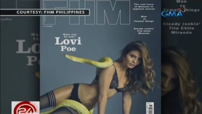 Lovi recalls scary moment with python during magazine shoot